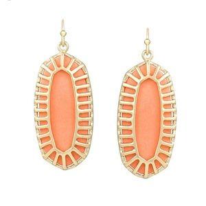 Kendra Scott Dayla Oval Earrings in Coral